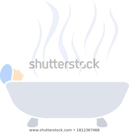 Mulher banheira ícone verde cinza água Foto stock © angelp