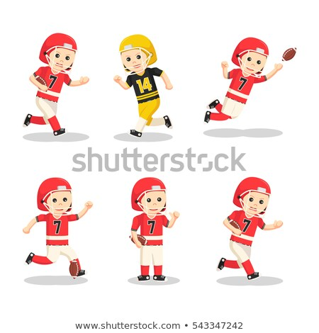 American Football Player Cartoon Collection Set Stock photo © patrimonio