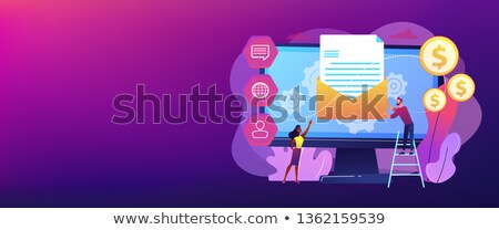 Marketing automation system concept banner header. Stock photo © RAStudio