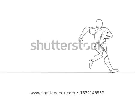 Rugby spelers man tegenstander concurrentie spel Stockfoto © robuart