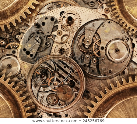 Abstract Steampunk metal grunge gear design Stock photo © exile7