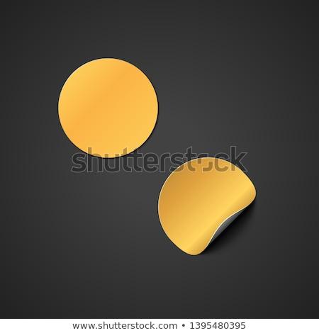 Vector goud sticker omhoog papier Stockfoto © TRIKONA