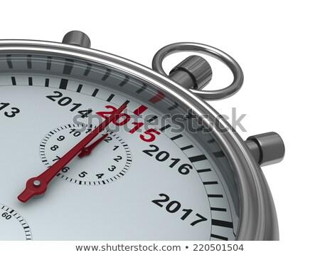 year calendar on stopwatch. Isolated 3D illustration Stock photo © ISerg