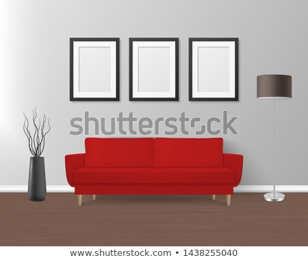 Modern red sofa or couch furniture Stock photo © vapi