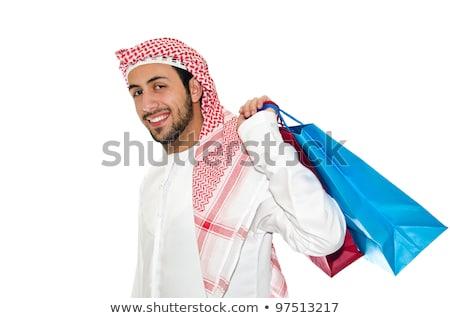 アラブ 男 ショッピングバッグ 白 ビジネス ショッピング ストックフォト © Elnur