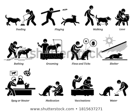 Taking Medication Supplements Icon Vector Illustration Stock photo © pikepicture
