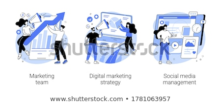 smm vector concept metaphors stock photo © rastudio