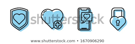 Key to Heart Icon Vector Outline Illustration Stock photo © pikepicture