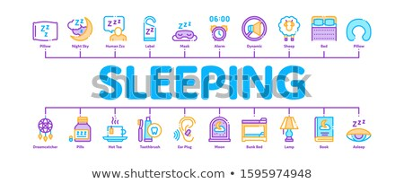 Sleeping Time Devices Minimal Infographic Banner Vector Stock photo © pikepicture