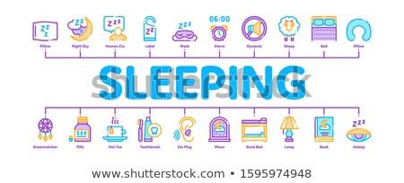 Adormecido tempo dispositivos mínimo bandeira Foto stock © pikepicture
