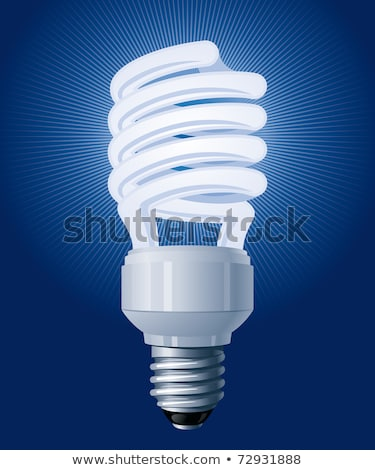 Glowing Spiral Compact Fluorescent Lamp Cfl Vector Stock photo © pikepicture