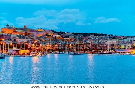 Hermosa puerto pequeño paisaje mar edificios Foto stock © fyletto