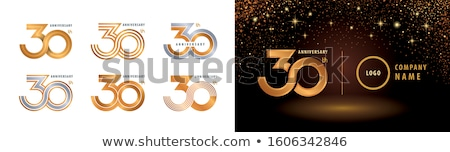 golden anniversary logo collection premium design set Stock photo © SArts