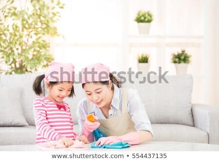 Huishouding kinderen huiselijk gelukkig kid Stockfoto © vkstudio
