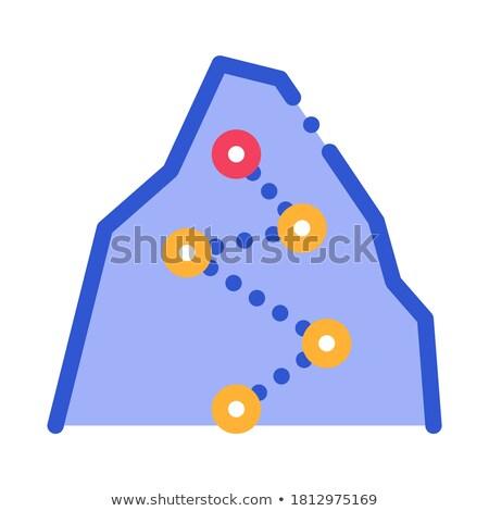 Richting manier punten berg vector icon Stockfoto © pikepicture