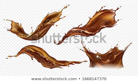 Sıçrama kahve dalga kahve çekirdekleri yalıtılmış Stok fotoğraf © limpido