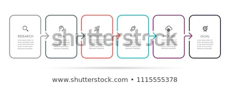 Colorful diagram, infographic template. Timeline with 6 options. Stair workflow process for business Stock photo © ukasz_hampel