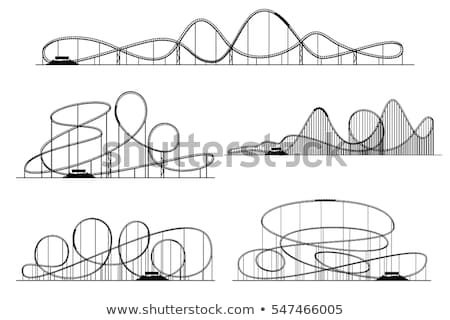 roller coaster ride icon vector outline illustration Stock photo © pikepicture