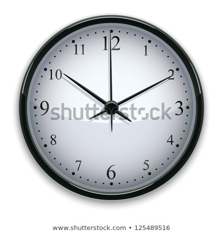 Mechanical Clock and Hour Glass Isolated Vector Stock photo © robuart