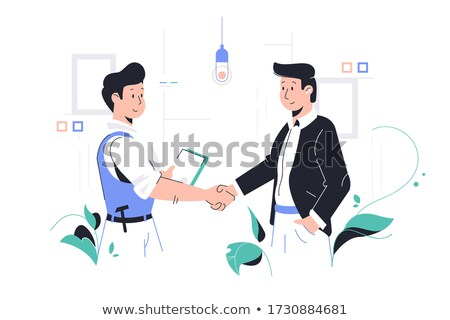 Manager Making Orders to Worker in Office Vector Stock photo © robuart
