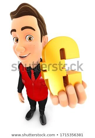 3D vendedor ouro euro assinar Foto stock © 3dmask