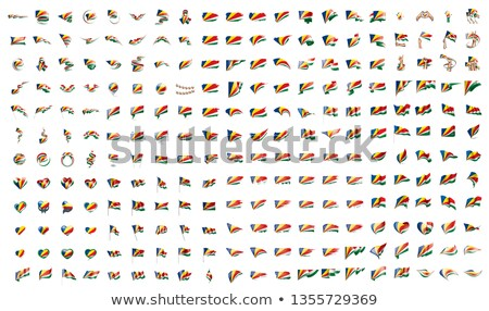 very big collection of vector flags of the Seychelles Stock photo © butenkow