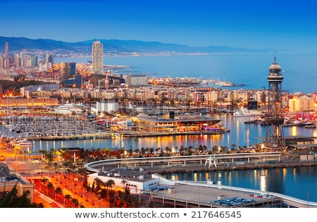 ポート バルセロナ スペイン 夏 日没 ストックフォト © Anneleven