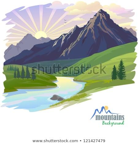 Montagna stream himalaya la natura Foto d'archivio © dmitry_rukhlenko