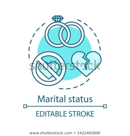 Marital status abstract concept vector illustration. Stock photo © RAStudio