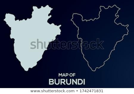 Burundi mapa político país bandera ilustración Foto stock © tony4urban
