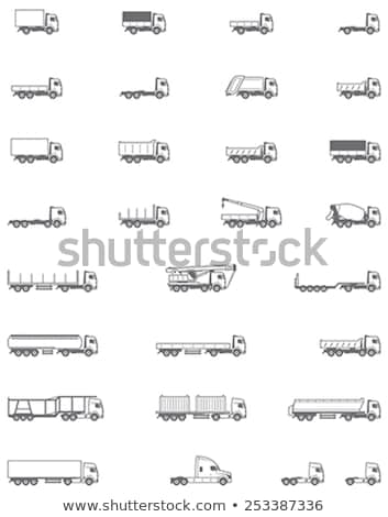 Different Types Of Trucks And Lorries Icons Stock fotó © tele52