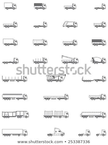 Unterschiedlich Lkw Symbole Vektor Feuer Stock foto © stoyanh