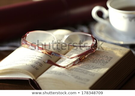 Cup of Tea and a Good Book Stock photo © frannyanne