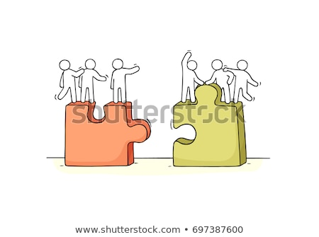 Standing businessman with separated hands Stock photo © Paha_L