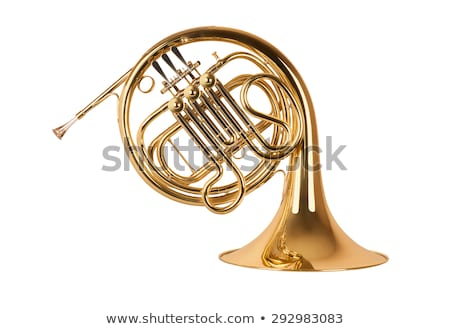 French Horn Isolated on White stock photo © mkm3