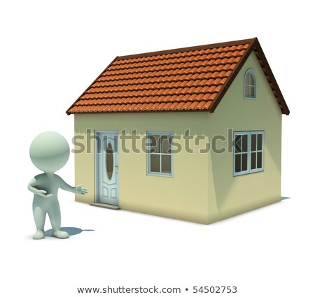 3d small people   show a home stock photo © anatolym