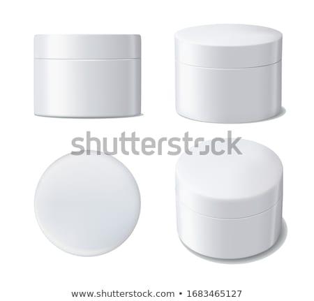 Stock photo: jar with cream