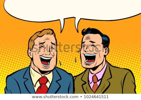 ビジネスマン 笑い 手 顔 男 手のひら ストックフォト © photography33