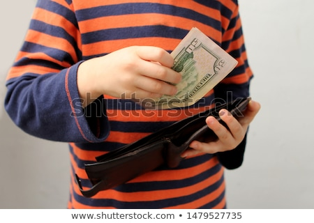 geld · uit · portemonnee · zwarte · haak - stockfoto © gewoldi