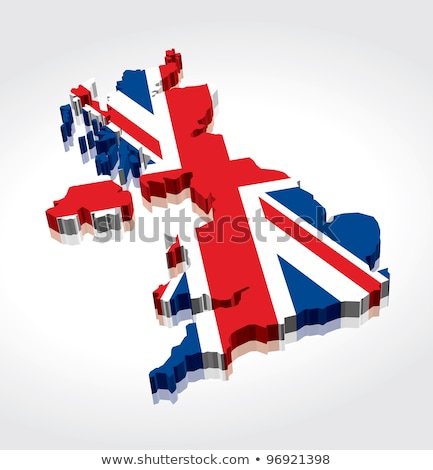 Three Dimentional Extruded British Flag Stock photo © albund