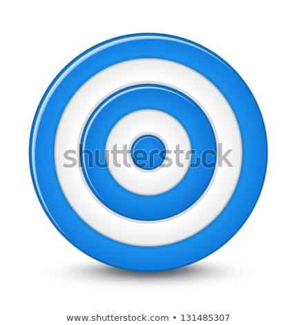Estratégia azul círculos 3D branco texto Foto stock © marinini