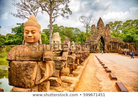 Bayon  Temple. Angkor, Siem Reap, Cambodia. Stock photo © tuulijumala