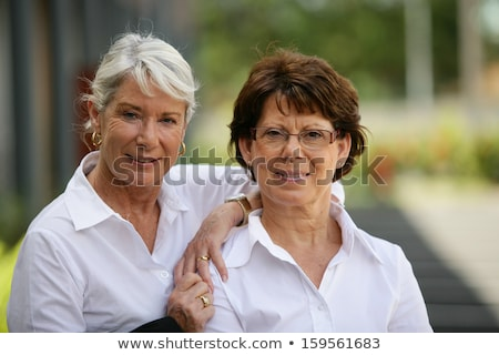 Two older women standing outside Stock photo © photography33