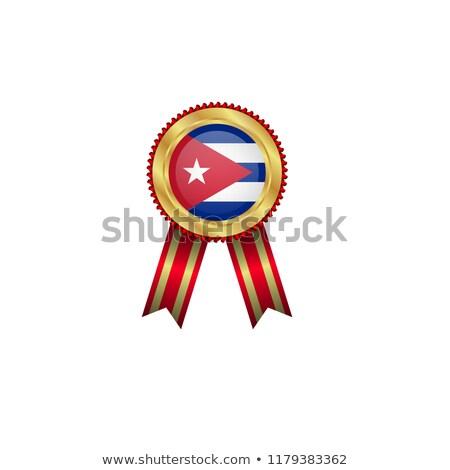 Cuba · vlag · officieel · knop · bal · ontwerp - stockfoto © milsiart