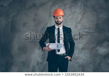 portrait of foreman holding blueprints Stock photo © photography33
