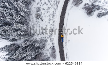hó · fúj · autópálya · államközi · 80 · Wyoming - stock fotó © aikon