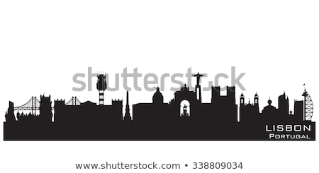 silhouette of Lisbon Stock photo © perysty