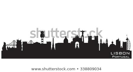 Silhouette Of Lisbon Сток-фото © YurkaImmortal