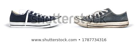 Oude schoen geïsoleerd witte Stockfoto © Saphira