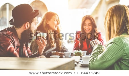 Young women having breakfast on the patio Stock photo © photography33